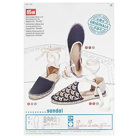 Prym Espadrilles Sandal vídeo de Instrucciones y patrón de Costura, DVD: Amazon.es: Hogar