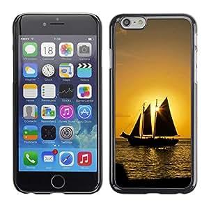TopCaseStore / la caja del caucho duro de la cubierta de protección de la piel - Sunset Ship Beautiful Nature 8 - Apple iPhone 6 Plus 5.5
