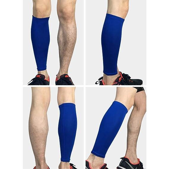 PBFONE - 1 par de calcetines de compresión para pantorrilla y pantorrilla para aliviar el dolor de pantorrilla - Hombres, mujeres y corredores - Protector ...