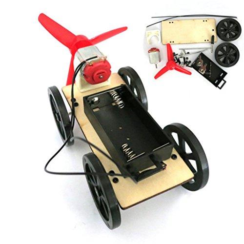 Lookatool Mini Wind Powered Toy DIY Car Kit Children Educational Gadget Hobby Funny