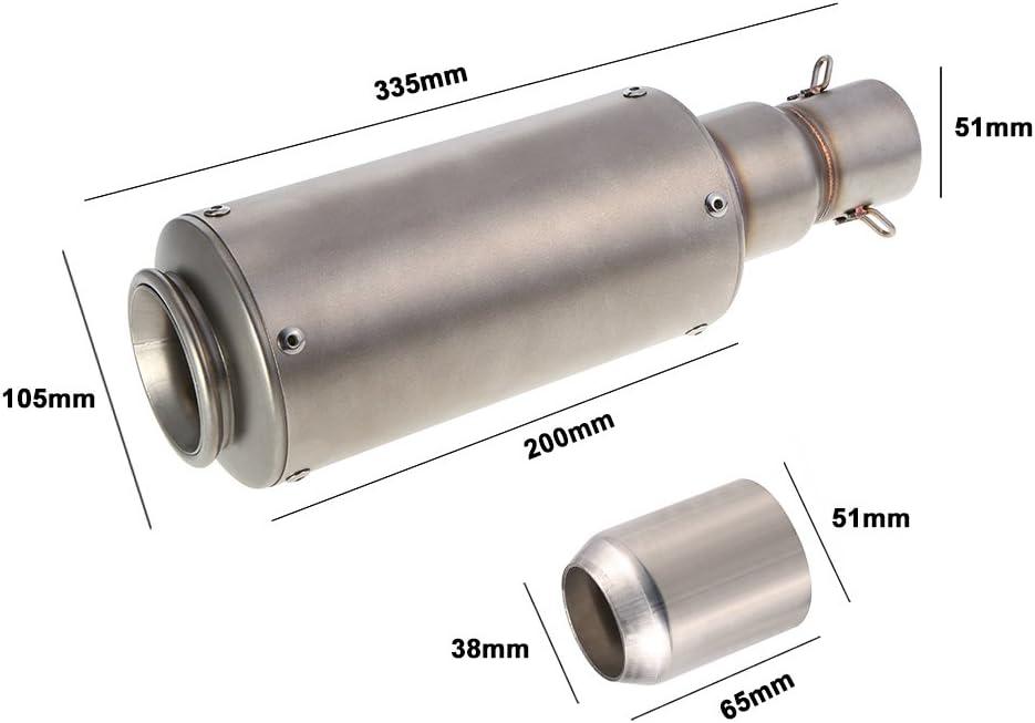 Tubo di scarico universale in fibra di carbonio per 38 mm a 51 mm di diametro