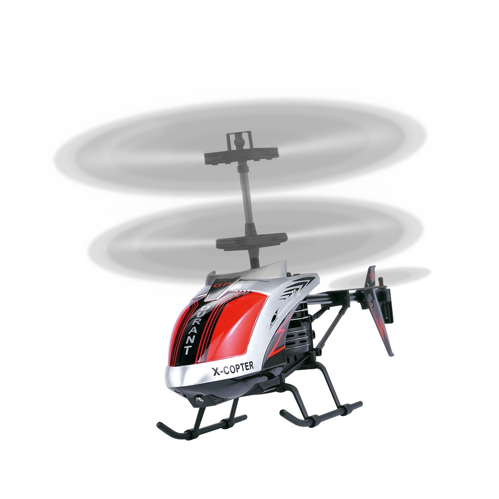 AMOSTING, RC Helicopter Crash Resistant 3.5 Channels with Gyro and LED Light