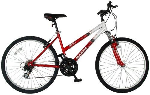 Mantis Ladies Raptor Mountain Bike (White/Red, 26 X 17-Inch)