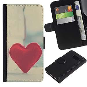 All Phone Most Case / Oferta Especial Cáscara Funda de cuero Monedero Cubierta de proteccion Caso / Wallet Case for Samsung Galaxy S6 // Love Hipster Heart