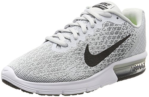 f4cf8d2c93 Galleon - Nike Air Max Sequent 2 Pure Platinum/Black/Cool Grey/Wolf Grey  Womens Running Shoes