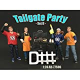Tailgate Party Set II 4 Piece Figure Set For 1:24 Scale Models by American Diorama 77596