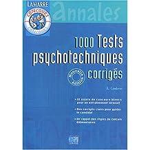 1 000 tests psychotechniques corrigés