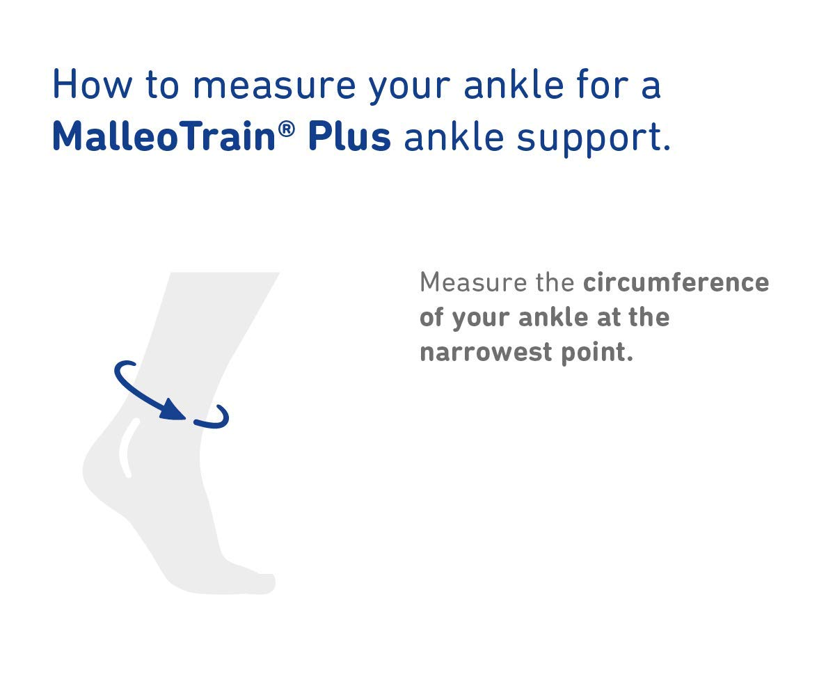 Bauerfeind - MalleoTrain Plus - Ankle Support - Extra Stability for The Ankle Joints and Tendons - Left Foot - Size 1 - Color Titanium
