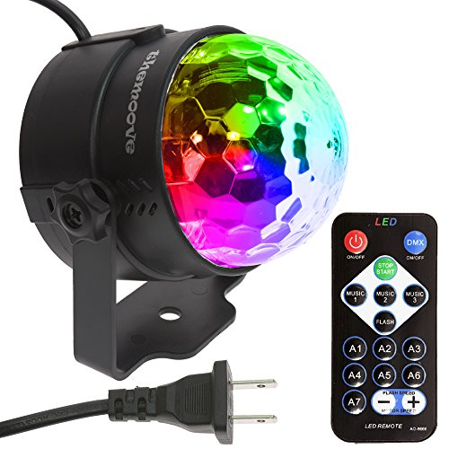 themoove - 7 Colors LED Sound Activated Trippy Disco Party Lights Supplies Strobe for Karaoke Kid Bedroom Birthday Gift Dancing Christmas DJ Accessories Night Parties -