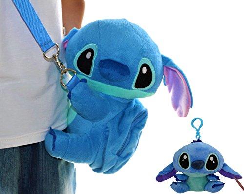 Disney Lilo and Stitch Gift Set. Soft Plush Shoulder Mini Bag W/Mini Pocket & Cute Plush Doll Bag Charm 5