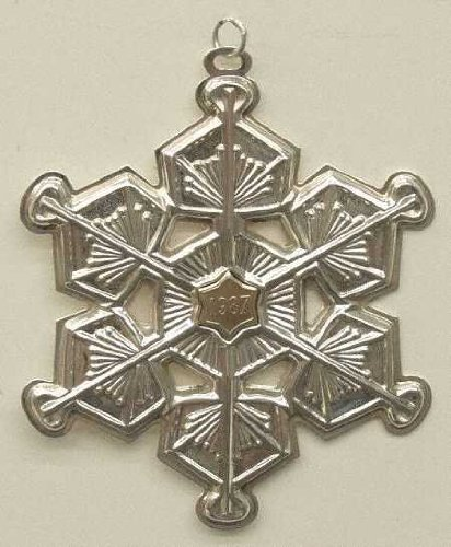 (Gorham Sterling Silver Snowflake Ornament - 1987)