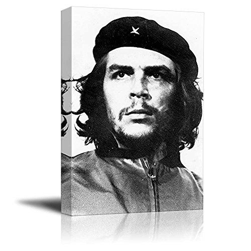 wall26 - Canvas Prints Wall Art - Portrait of Che Guevara in Black and White | Modern Wall Decor/Home Decoration Stretched Gallery Canvas Wrap Giclee Print & Ready to Hang -