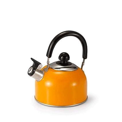 YAOHAOHAO Silbato de Acero Inoxidable Calentador de Agua, hervir la Tetera Tetera Cocina de inducción