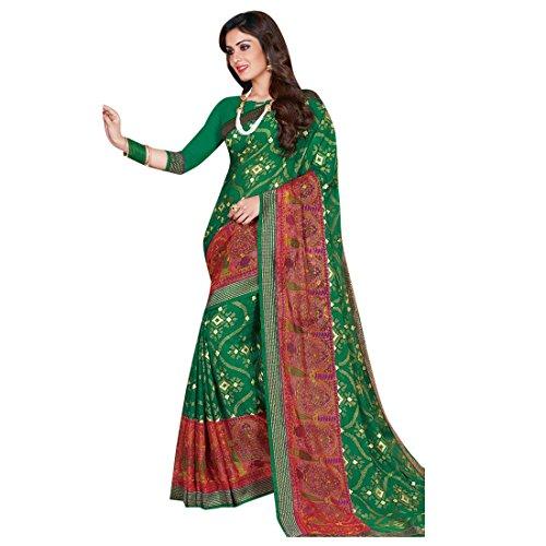 Ladies Printed Dress Ethnic Gerogette Light for Indian Designer ETHNIC Casual Sari ragazza 2694 Designer Traditional Saree da EMPORIUM Wedding Blusa Women WwqgcScUp