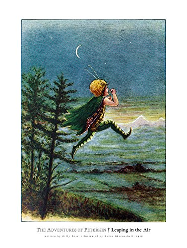 Helen Victorian Print - Extraordinary Nursery Decor by Tom Hawkins Photography 8x10 Fine Art Print,Leaping into the Air, from the Dutch Children's book, The adventures of Peterkin (1916), by Gilly Bear. (8x10 inches)