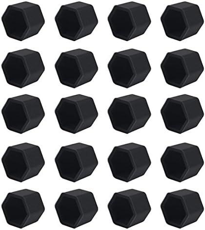 Andux ランドホイールラグナットカバー シリコン20個 LSBHT-01 ブラック LSBHT-01