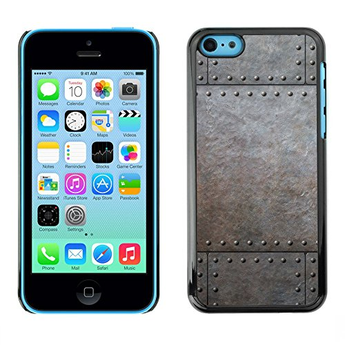 Premio Sottile Slim Cassa Custodia Case Cover Shell // V00002779 des rivets métalliques // Apple iPhone 5C