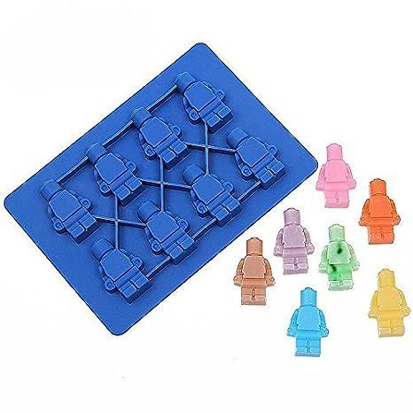 nicebuty silicona LEGO Robot cubo de hielo caja de hielo Chocolate moldes Jelly moldes Candy molde para repostería: Amazon.es: Hogar