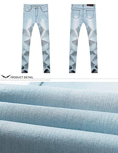 Pantalones Claro Series Skinny Pitillos Dh8008 Skinny amp;Hunter Vaqueros Hombre X Jeans X Demon 808 Azul xR71qXtw
