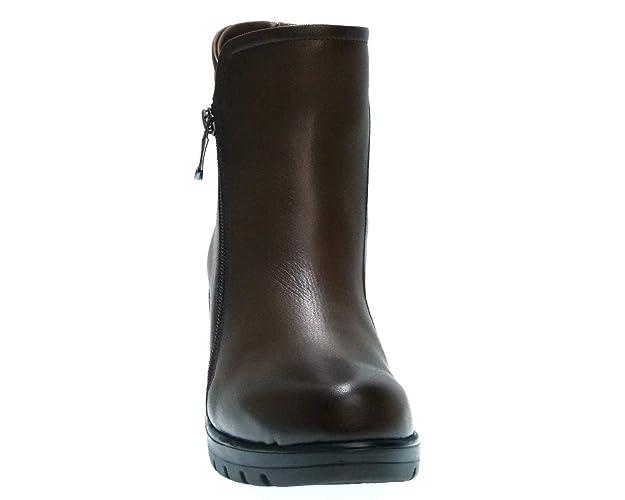 PAULA URBAN Botin DE Piel Vison con CUÑA Y Planta Acolchada 815 para Mujer: Amazon.es: Zapatos y complementos