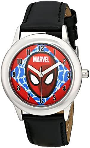 Marvel Kids' W001642 Tween Ultimate Spider-Man Analog Display Analog Quartz Black Watch