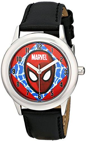 Marvel Kids' W001642 Tween Ultimate Spider-Man Analog Display Analog Quartz Black Watch
