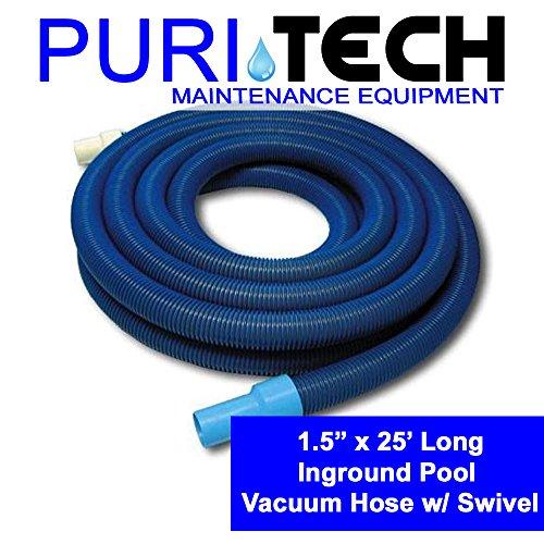 PuriTech Inground Swimming Pool Vacuum Hose 1.5'' X 25' ft w/ Swivel VH1225