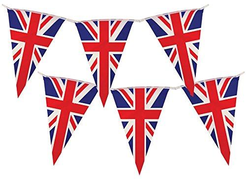 Union Jack Pennant UK Flag Banner by Gabby Fun (Union Jack Decorations)