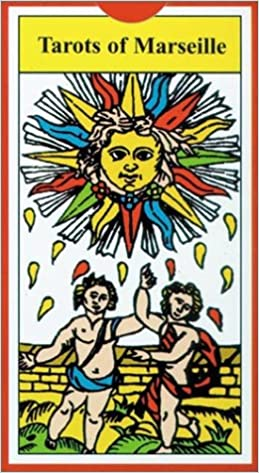 Tarot of Marseilles THE LOVERS Antique Tarot Card Reproduction Poster