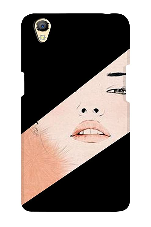 innovative design ab2c9 acb44 TEMPER Half Pic 3D Back Cover for Oppo F1: Amazon.in: Electronics