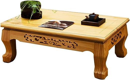 Mesas Mesa Pequeña Tallada A Mano Mesa De Centro Tatami Sala De ...