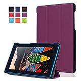 Carcasa Lenovo Tab3 7 Essential Cuero,Ultra Slim PU Cuero Book Cover Funda Carcasa para Lenovo Tab3 7 Essential Tab 3-710F (Tablet da 7'' Pulgadas)Funda de Piel Caso con Función Soporte