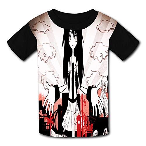 (Cool Short Sleeved T-Shirt Monogatari - Series Outdoor Activities Tee Shirt for Boys and Girls Black)