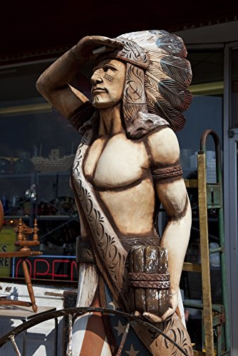 - Cigar Store Indian Poster Print (18 x 24)