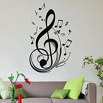 soledixcm pegatinas adhesivos vinilos decorativos pared grande nota msica removible para sala de estar