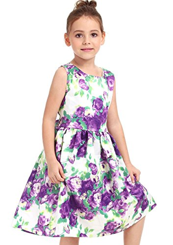 11 Dresses Old Year (Ephex Toddler Girls Flower Princess Dress with Floral Print 2-11T (10-11 Years,)