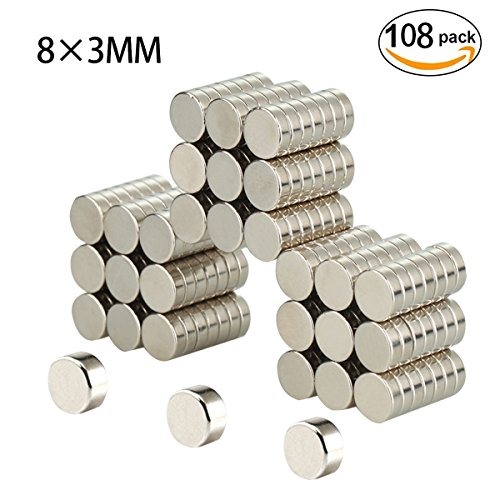 Refrigerator Magnets, Be Magnet 108 PCS Round Cylinder for sale  Delivered anywhere in Canada