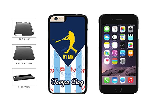 Tampa Bay Baseball Number One Fan Plastic Phone Case Back Cover For Apple iPhone 6 Plus (5.5 Inches Screen) comes with Security Tag and MyPhone Designs(TM) Cleaning Cloth