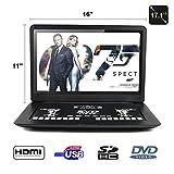 FENGJIDA 17.1''portable dvd players with HDMI,SD, USB slot HD 1366x768 Digital TFT