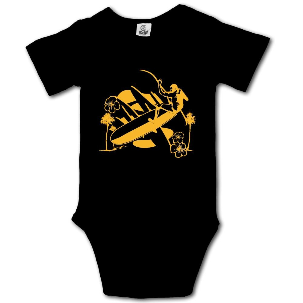 Baby Toddler Climbing Bodysuit Surfing Man Infant Climbing Short-Sleeve Onesie Jumpsuit