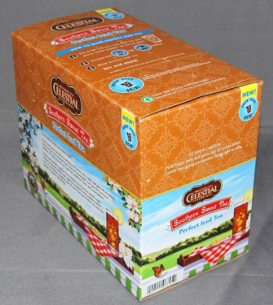 110 Count K-Cups, Celestial Seasonings Southern Sweet Black Perfect Iced Tea for Keurig K-Cup Brewers