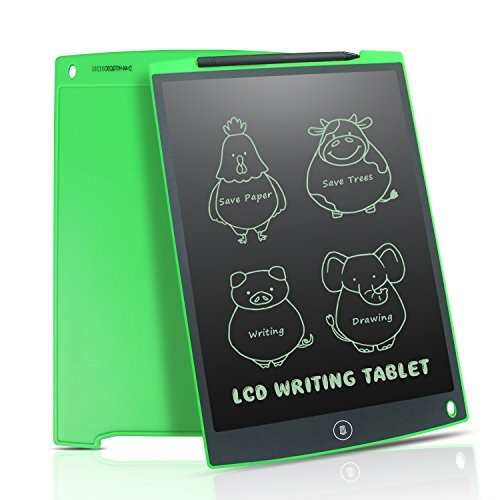 Newyes 12 inch LCD Writing Tablet Doodle Pad Drawing Board Gifts Kids Office Whiteboard Fridge Magnetic Memo Message Boards (Green) by HOMESTEC