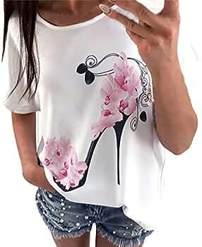 Vectry Camisas con Volantes Mujer Camisa Manga Volante Top Volantes Camisa De Volantes Vestido Volantes Mujer Camiseta Mujer Manga Corta Camisetas De Manga Corta: Amazon.es: Ropa y accesorios