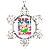 pansy Personalised Christmas Tree Decoration Gaming Sounds Metal Christmas Snowflake Ornaments