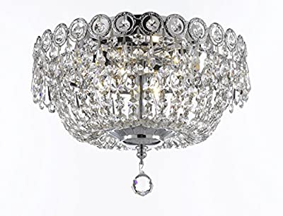 Ashonte- 12-inch Crystal Flush Mount in Chrome