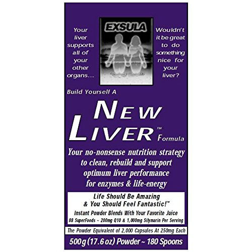 Exsula Superfoods New Liver - Detox Your Liver - Efficient Fat Metabolism - Speed Up Weight Loss (Powder: 170 g)