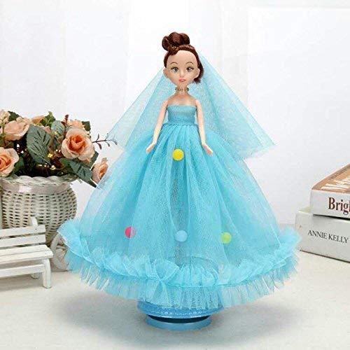 FORTR Home Brautkleid Puppe Braut rotierende Spieluhr Spieluhr Spieluhr für Mädchen Spielzeug interessantes Spielzeug f16112