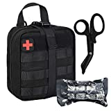Tactical Trauma MOLLE Pouch Set-BUSIO IFAK EMT First aid Pouch-Military Small Emergency Survival Kit-Medical Bandage Scissors Paramedic Bag for Outdoor Camping Sports