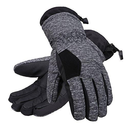 Andorra Kids Two Tone Geometric Ski Gloves