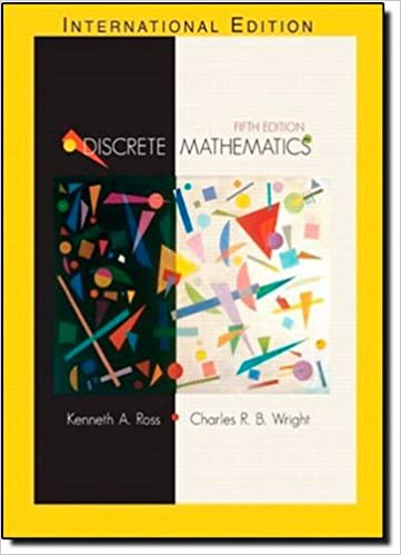 book discrete mathematics ross wright solution manual